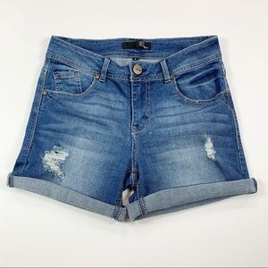 1822 Distressed Denim Shorts Size 4